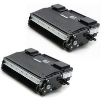 2 Pack - Compatible Brother TN670 Toner Cartridge, Black, High Yield