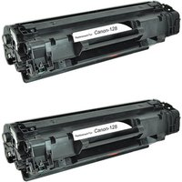 2 Pack - Compatible Canon 128 Toner Cartridge, Black (3500B001AA)