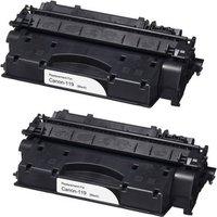 2 Pack - Compatible Canon 119 Toner Cartridge, Black (3480B001AA)