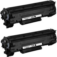 2 Pack - Compatible Canon 125 Toner Cartridge, Black (3484B001AA)