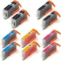 10 Pack - Compatible Canon PGi-250XL Ink Cartridges & Canon Cli-251XL Ink Cartridge Set, High Yield, Package Includes 2 PGi-250XL Black, 2 Cli-251XL Black, 2 Cyan, 2 Magenta and 2 Yellow Ink Cartridges