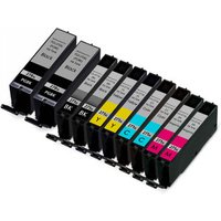 10 Pack - Compatible Canon PGi-270XL and Cli-271XL Ink Cartridge Set, Package Includes 2 PGi-270XL Black, 2 Cli-271XL Black, 2 Cyan, 2 Magenta, and 2 Yellow Ink Cartridge