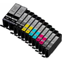 12 Pack - Compatible Canon PGi-270XL and Cli-271XL Ink Cartridge Set, Package Includes 2 PGi-270XL Black, 2 Cli-271XL Black, 2 Cyan, 2 Magenta, 2 Yellow and 2 Gray Ink Cartridges