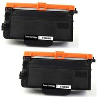 2 Pack - Compatible Brother TN890 Toner Cartridges, High Yield, Black - 20,000 Page Yield