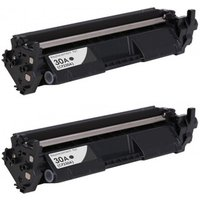 2 Pack - Compatible Replacement For HP 30A Toner Cartridge, Black (CF230A), Yields 1,600 Pages Each
