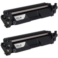 2 Pack - Compatible Replacement For HP 30X Toner Cartridge, Black, High Yield (CF230X), Yields 3,500 Pages Each