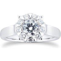 Masquerade 18ct White Gold 0.95cttw Diamond Ring - Ring Size N