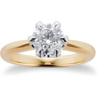 Hermione 18ct Yellow Gold 1.00ct Diamond Engagement Ring - Ring Size Q
