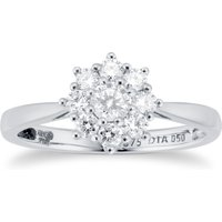 9ct White Gold 0.50cttw Diamond Cluster Ring