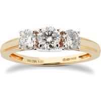 18ct Yellow Gold 1.00cttw 3 stone Diamond Ring.