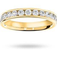 9 Carat Yellow Gold 0.75 Carat Brilliant Cut Half Eternity Ring - Ring Size H