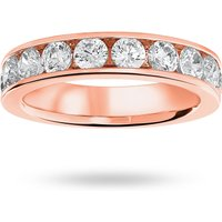 18 Carat Rose Gold 1.50 Carat Brilliant Cut Half Eternity Ring - Ring Size L