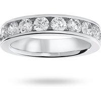 18 Carat White Gold 1.50 Carat Brilliant Cut Half Eternity Ring - Ring Size N