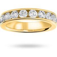 18 Carat Yellow Gold 1.50 Carat Brilliant Cut Half Eternity Ring - Ring Size N