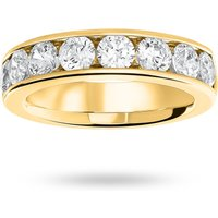 18 Carat Yellow Gold 1.85 Carat Brilliant Cut Half Eternity Ring - Ring Size P