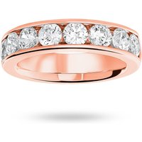 9 Carat Rose Gold 1.85 Carat Brilliant Cut Half Eternity Ring - Ring Size Q