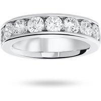 9 Carat White Gold 1.85 Carat Brilliant Cut Half Eternity Ring - Ring Size T