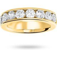 9 Carat Yellow Gold 1.85 Carat Brilliant Cut Half Eternity Ring - Ring Size U
