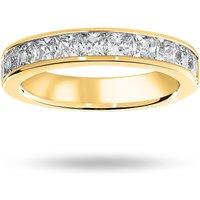 18 Carat Yellow Gold 1.50 Carat Princess Cut Half Eternity Ring - Ring Size N