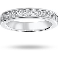 9 Carat White Gold 1.50 Carat Princess Cut Half Eternity Ring - Ring Size N