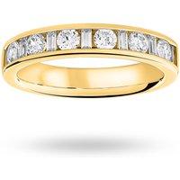 18 Carat Yellow Gold 0.75 Carat Dot Dash Half Eternity Ring - Ring Size M