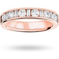 18 Carat Rose Gold 1.00 Carat Dot Dash Half Eternity Ring - Ring Size M