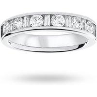18 Carat White Gold 1.00 Carat Dot Dash Half Eternity Ring - Ring Size P