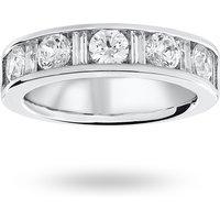 9 Carat White Gold 1.45 Carat Dot Dash Half Eternity Ring - Ring Size H.5