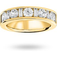 9 Carat Yellow Gold 1.45 Carat Dot Dash Half Eternity Ring - Ring Size T