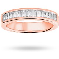 9 Carat Rose Gold 0.75 Carat Baguette Cut Half Eternity Ring - Ring Size N