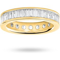 18 Carat Yellow Gold 2.00 Carat Baguette Cut Full Eternity Ring - Ring Size J