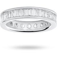 9 Carat White Gold 2.00 Carat Baguette Cut Full Eternity Ring - Ring Size I.5