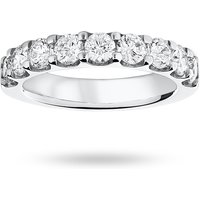 18 Carat White Gold 1.45 Carat Brilliant Cut Half Eternity - Ring Size P