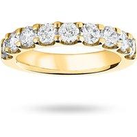 18 Carat Yellow Gold 1.45 Carat Brilliant Cut Half Eternity - Ring Size J