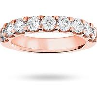 9 Carat Rose Gold 1.45 Carat Brilliant Cut Half Eternity - Ring Size U.5