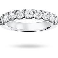 9 Carat White Gold 1.45 Carat Brilliant Cut Half Eternity - Ring Size Q.5