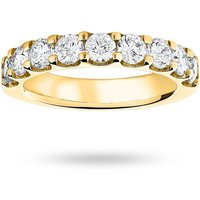 9 Carat Yellow Gold 1.45 Carat Brilliant Cut Half Eternity - Ring Size T