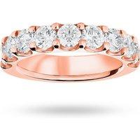 18 Carat Rose Gold 2.10 Carat Brilliant Cut Half Eternity - Ring Size L