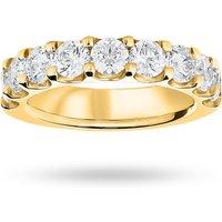 18 Carat Yellow Gold 2.10 Carat Brilliant Cut Half Eternity - Ring Size J