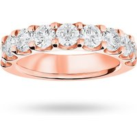 9 Carat Rose Gold 2.10 Carat Brilliant Cut Half Eternity - Ring Size Y