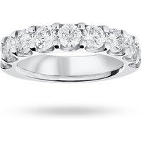 9 Carat White Gold 2.10 Carat Brilliant Cut Half Eternity - Ring Size W