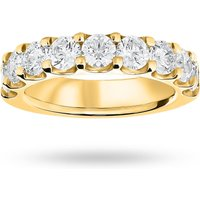 9 Carat Yellow Gold 2.10 Carat Brilliant Cut Half Eternity - Ring Size T.5