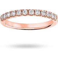 9 Carat Rose Gold 0.33 Carat Brilliant Cut Under Bezel Half Eternity Ring - Ring Size N