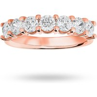18 Carat Rose Gold 1.30 Carat Brilliant Cut Under Bezel Half Eternity Ring - Ring Size M
