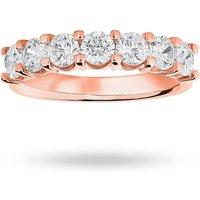9 Carat Rose Gold 1.30 Carat Brilliant Cut Under Bezel Half Eternity Ring - Ring Size H