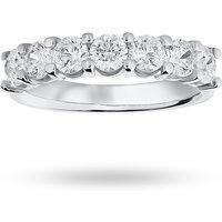 9 Carat White Gold 1.30 Carat Brilliant Cut Under Bezel Half Eternity Ring - Ring Size N