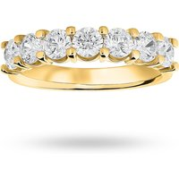 9 Carat Yellow Gold 1.30 Carat Brilliant Cut Under Bezel Half Eternity Ring - Ring Size P