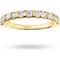 18 Carat Yellow Gold 0.50 Carat Brilliant Cut Bar Half Eternity Ring - Ring Size R.5