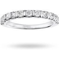 9 Carat White Gold 0.50 Carat Brilliant Cut Bar Half Eternity Ring - Ring Size K
