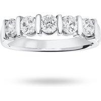 18 Carat White Gold 0.90 Carat Brilliant Cut Bar Half Eternity Ring - Ring Size K